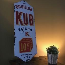 """Plaque émaillée """"Bouillon Kub"""""""