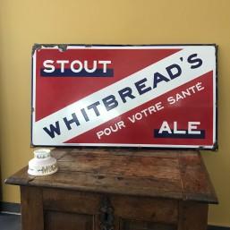Plaque émaillée bière...