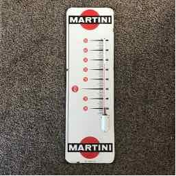 Thermomètre émaillé Martini