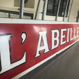 """Plaque émaillée XL """"L'Abeille"""""""