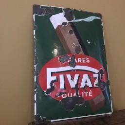 Plaque émaillée Cigares Fivaz
