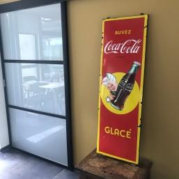 "Plaque émaillée ""Coca-Cola"" XL"
