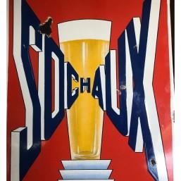 Plaque émaillée bière de...