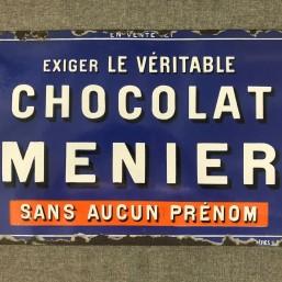 Plaque émaillée « Chocolat...