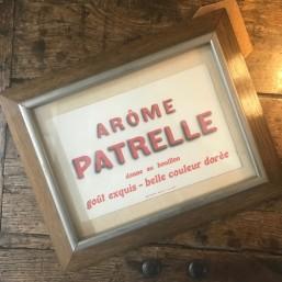 """Affichette """"Arôme Patrelle"""""""