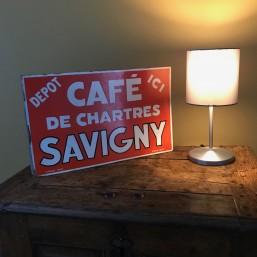 "Plaque émaillée ""Café de..."