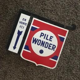 "Potence émaillée ""Pile Wonder"""