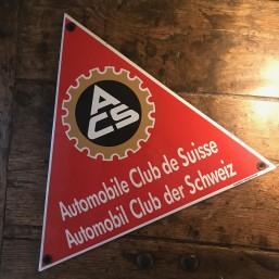 """Plaque émaillée """"Automobile..."""
