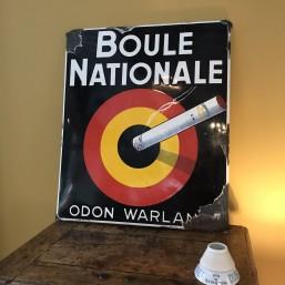 """Plaque émaillée """"Boule..."""